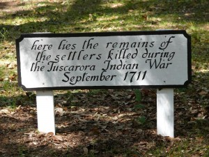 Sign in the Old Burying Ground at Beaufort, NC is wrong